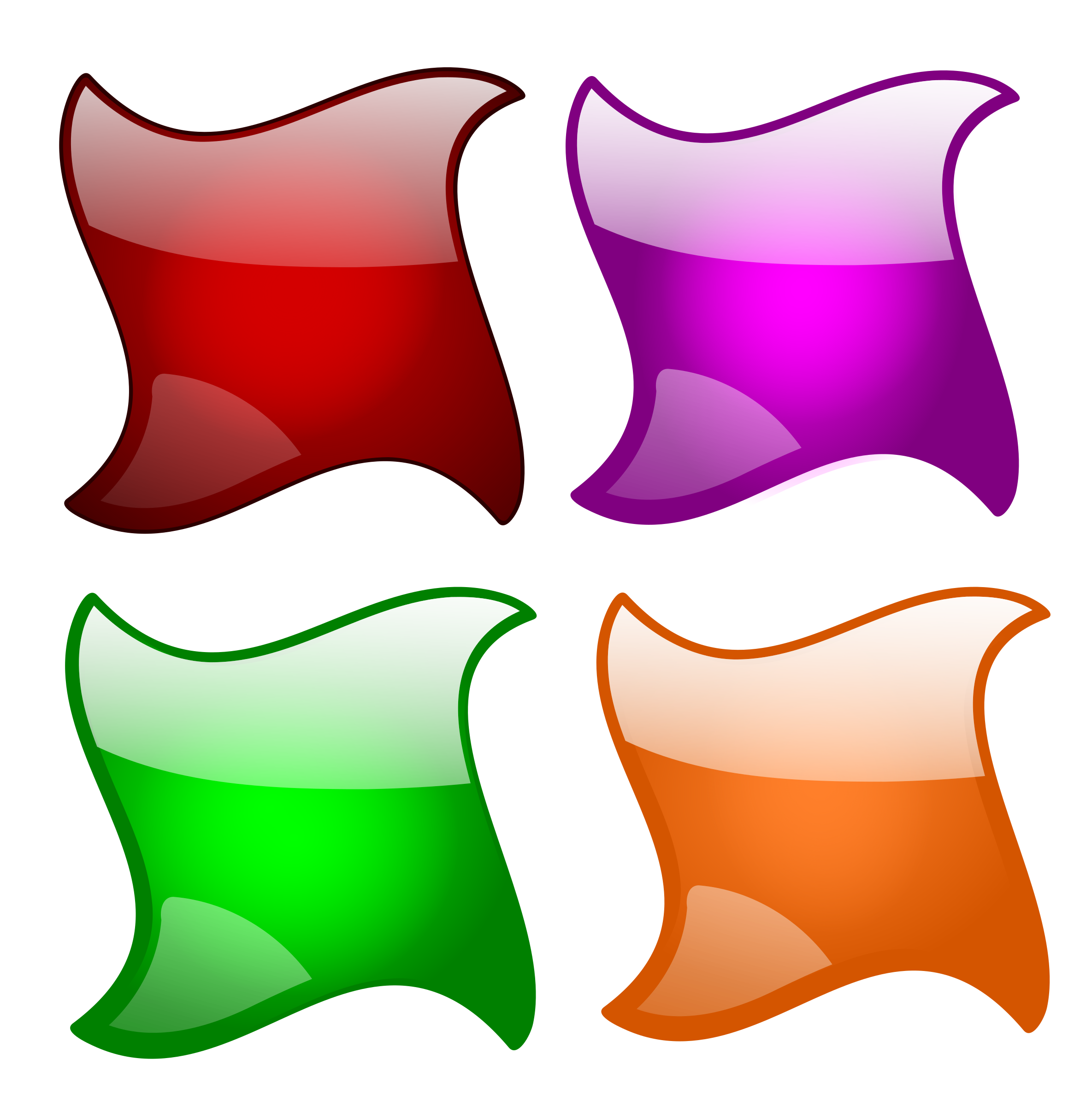 svg transparent download Button clipart different shape. Glossy shapes big image.