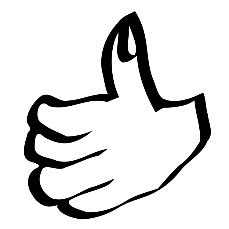 svg black and white stock Thumb signal computer icons. Button drawing