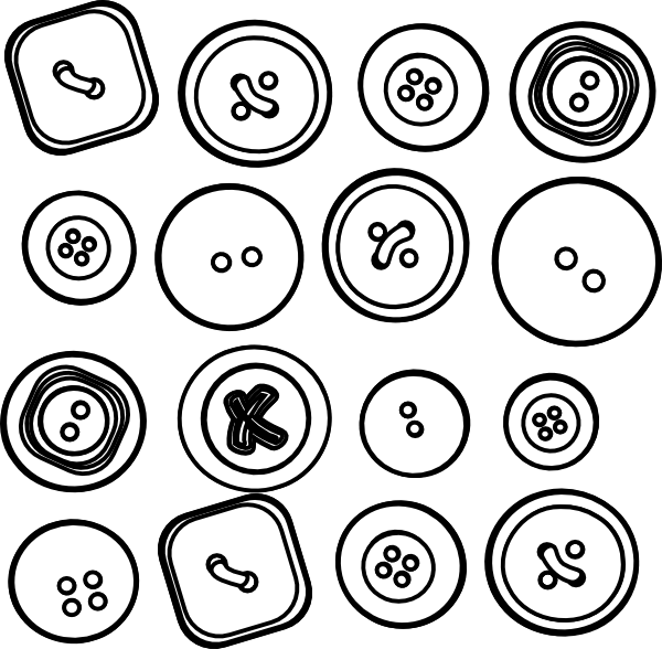 vector Buttons clipart. Sixteen clip art at