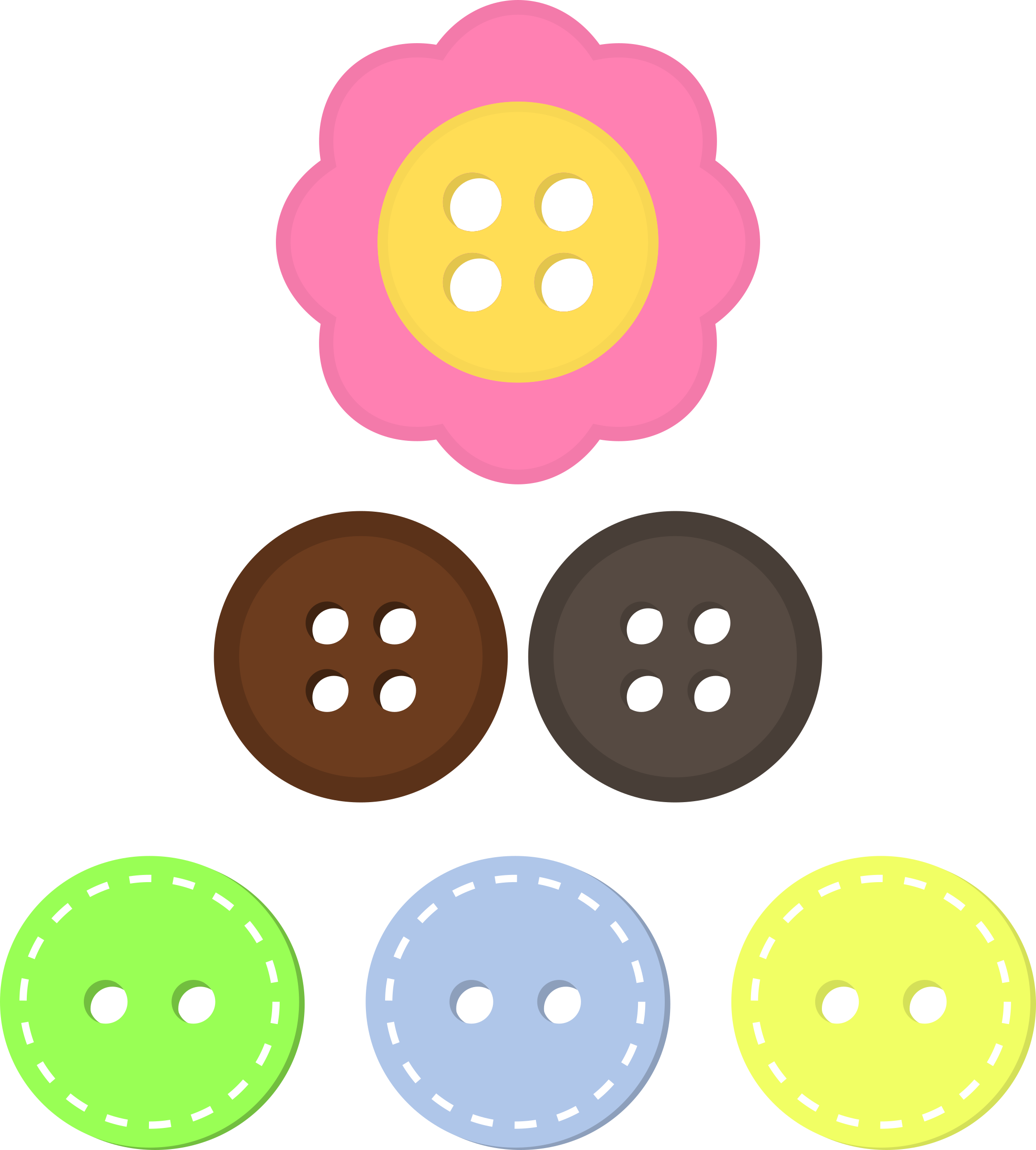 transparent stock Assorted big image png. Buttons clipart