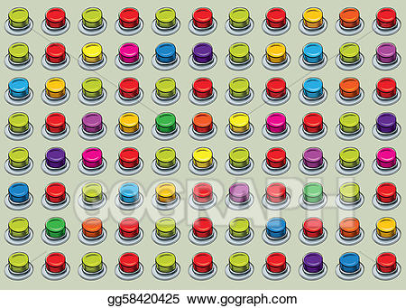 jpg library download Button panel stock illustration. Buttons clipart array.