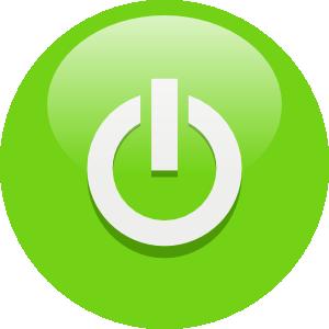 image freeuse library Green power button clip. Vector buttons logo