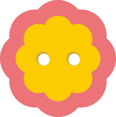 vector freeuse Flower buttons clipart