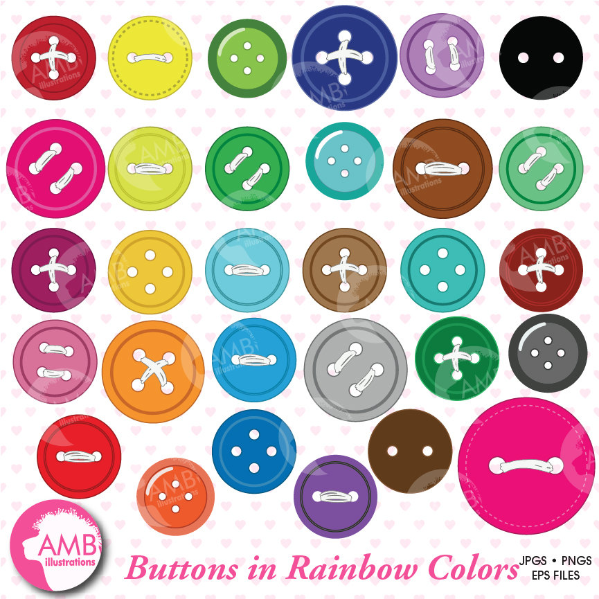 picture library stock Buttons clipart sewing button. Digital amb