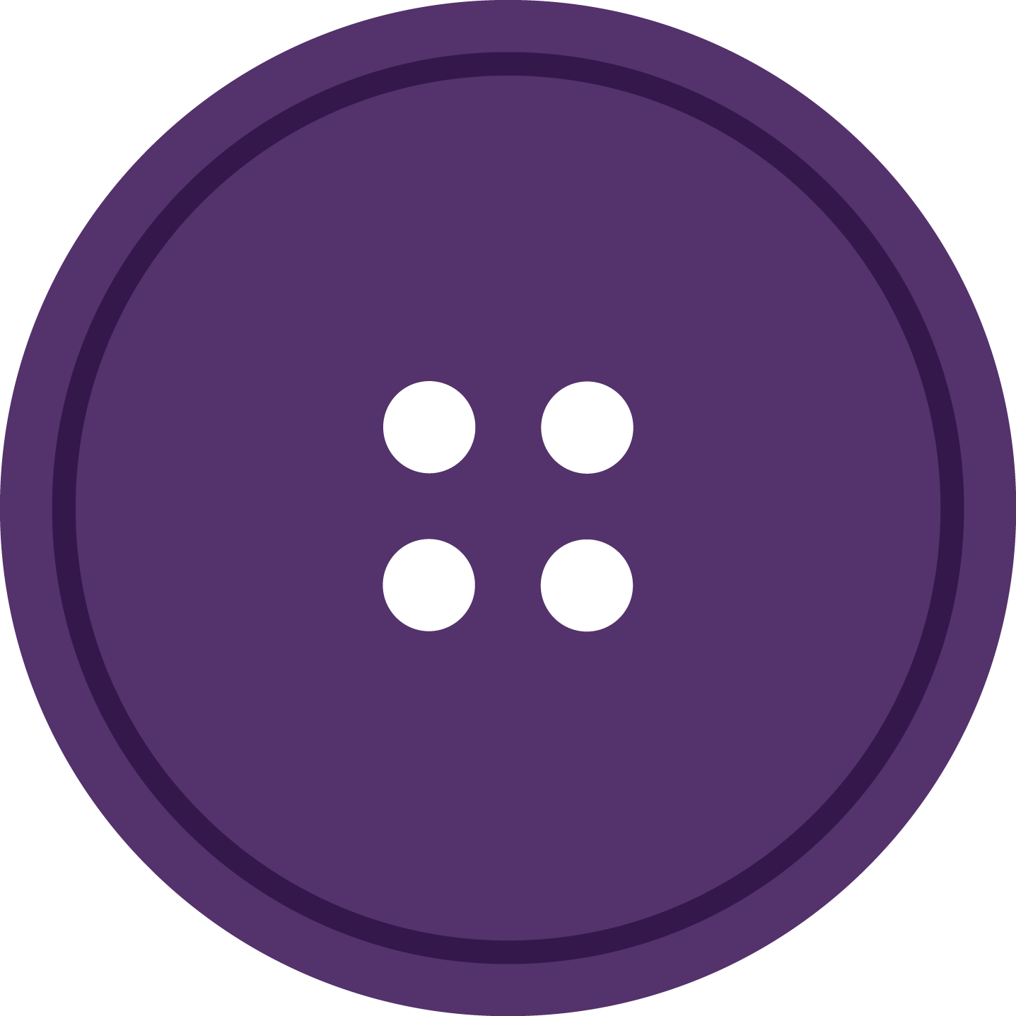 transparent library Purple round cloth with. Buttons clipart sewing button