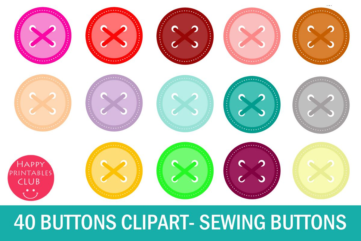 clipart royalty free stock Buttons clipart sewing button.  scrapbook