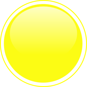 png black and white Buttons clipart yellow button. Glossy icon clip art.