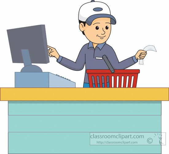 vector black and white library Buy clipart checkout counter. .