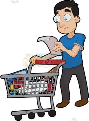 freeuse download Buy food transparent . Supermarket clipart customer shopping