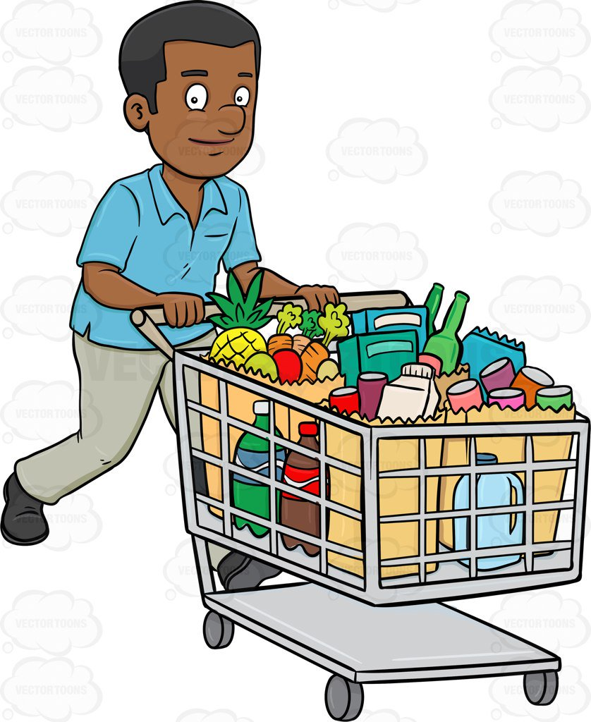 banner library stock Supermarket clipart shoping. Buy shopping
