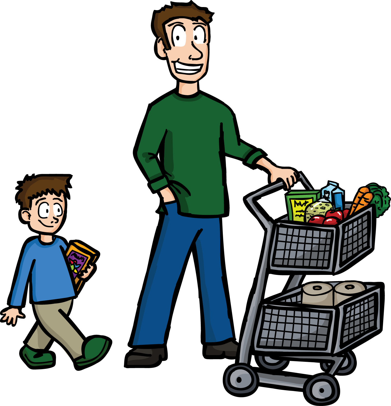 banner library  collection of buying. Supermarket clipart artwork