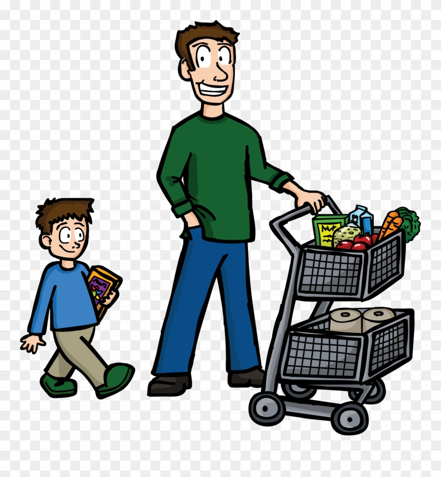 banner freeuse Clip transparent library father. Buy clipart food shopping