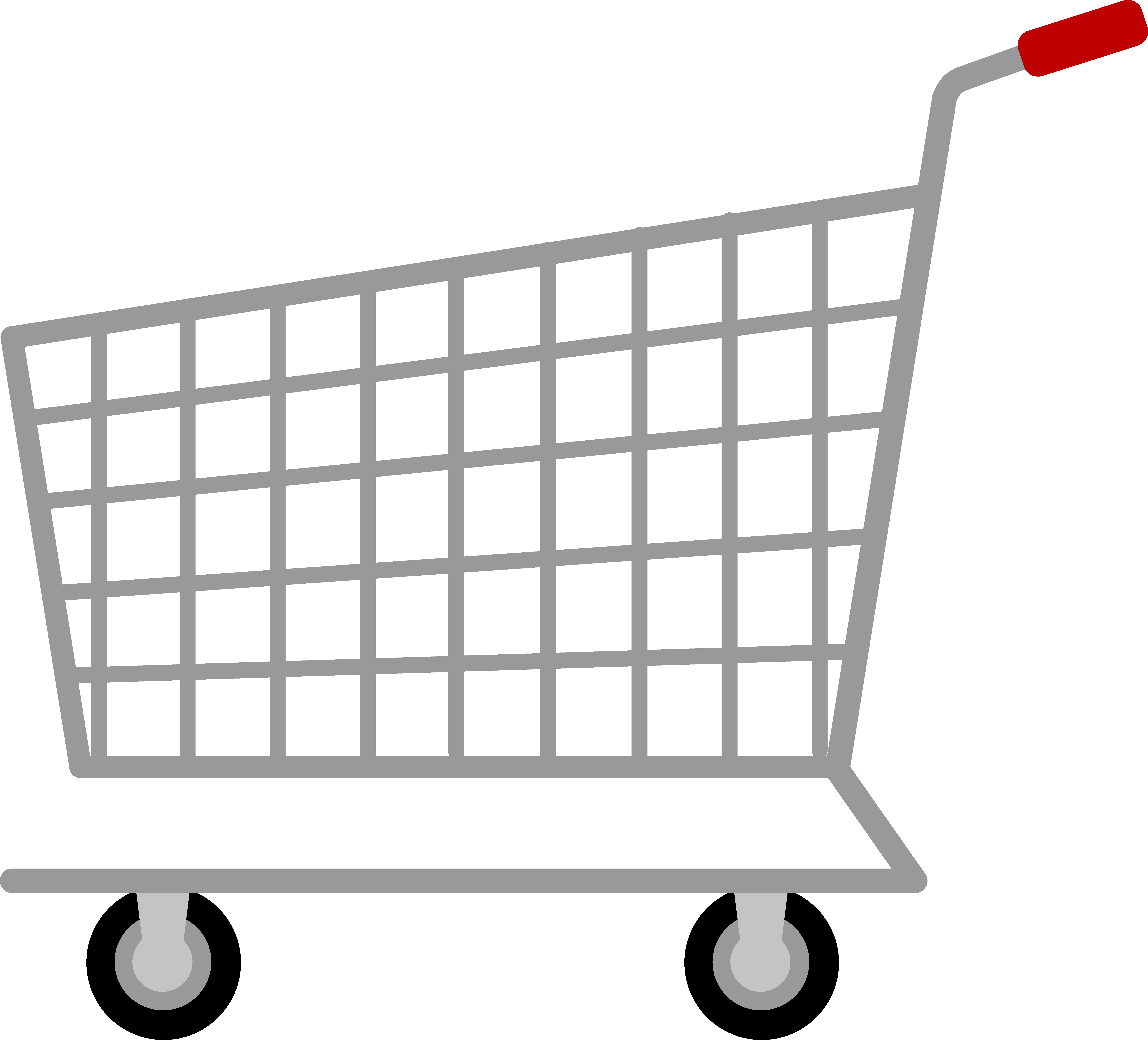 graphic freeuse stock Supermarket clipart outline. Shopping cart png images