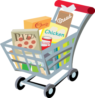 png File cart with clip. Buy clipart food shopping