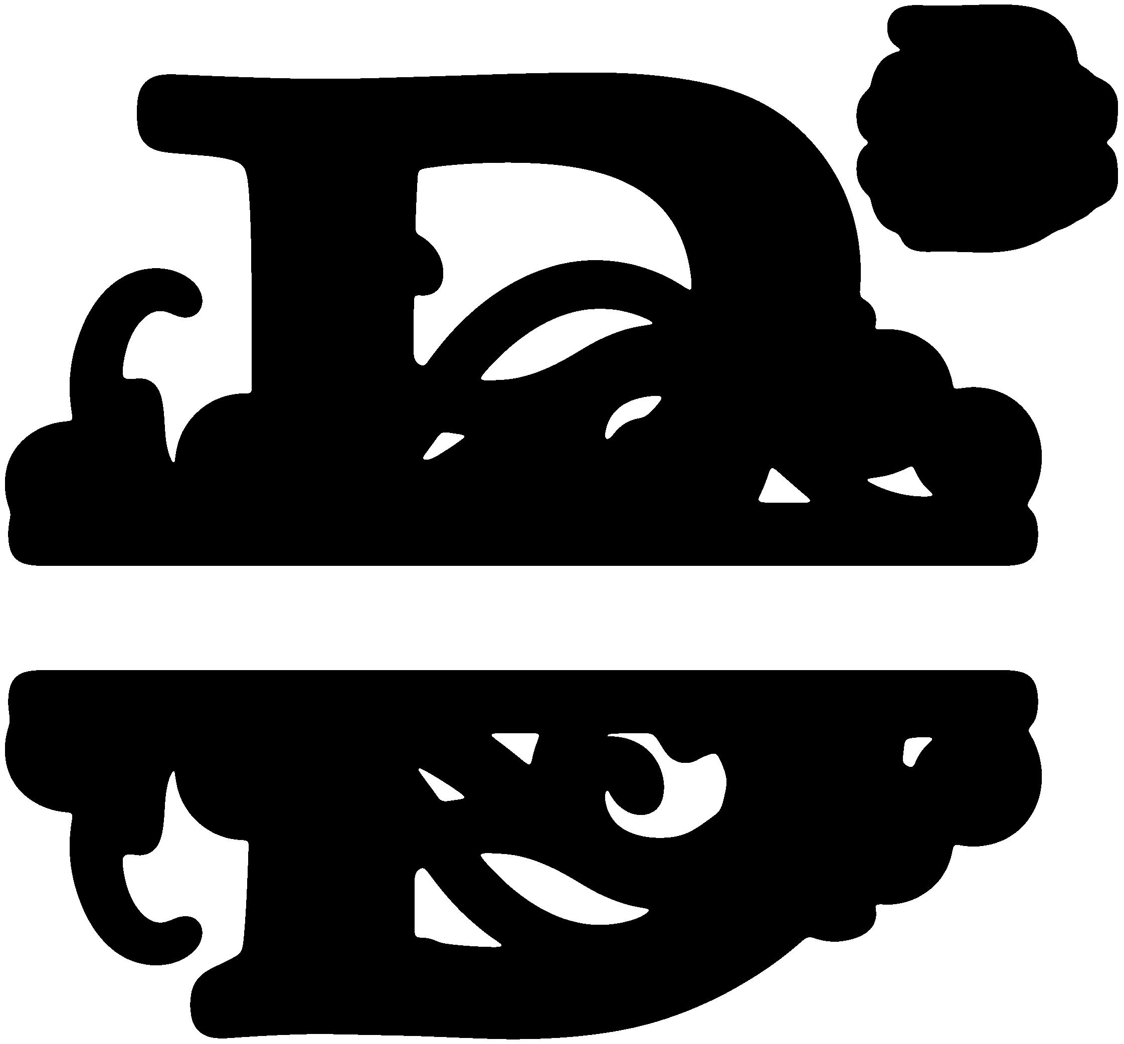 clip art stock B Split Monogram SDS B Split Monogram