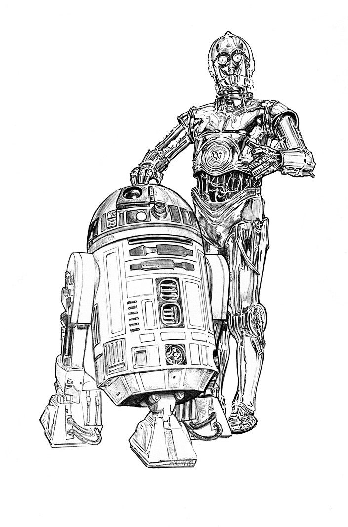 picture freeuse download C3p0 drawing. Star wars r d