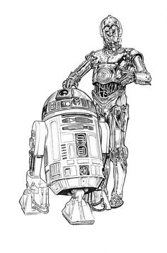 vector royalty free library c3p0 drawing insane #144594640