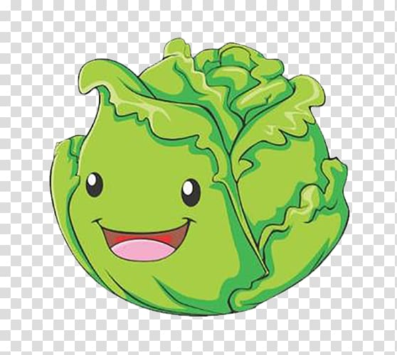 picture freeuse library Cabbage clipart animated. Cartoon vegetable illustration .
