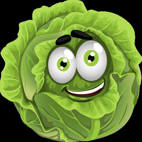 clipart transparent Cabbage clipart animated. L gumes rigolos laitue.