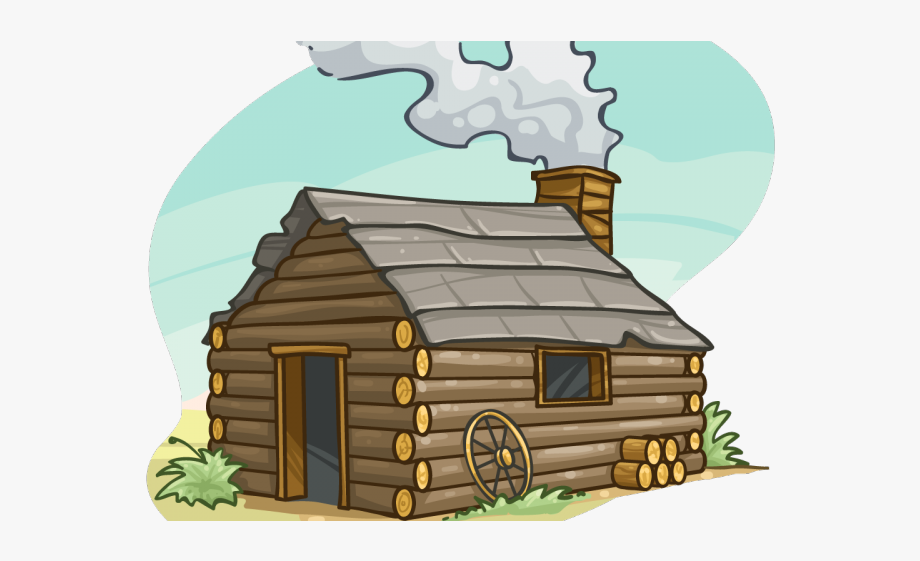 png transparent download Cabin pilgrim cartoon png. Cottage clipart.