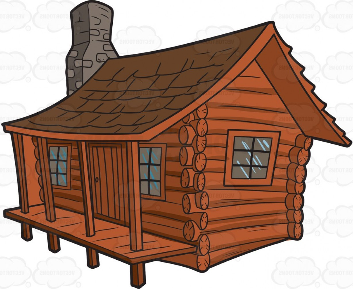 picture free Exclusive log clip art. Cabin clipart.