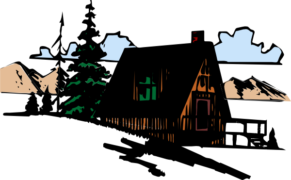clip black and white stock Cabin Silhouette Clip Art at GetDrawings