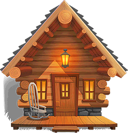 banner royalty free library Wooden free on dumielauxepices. Cabin clipart rickety.