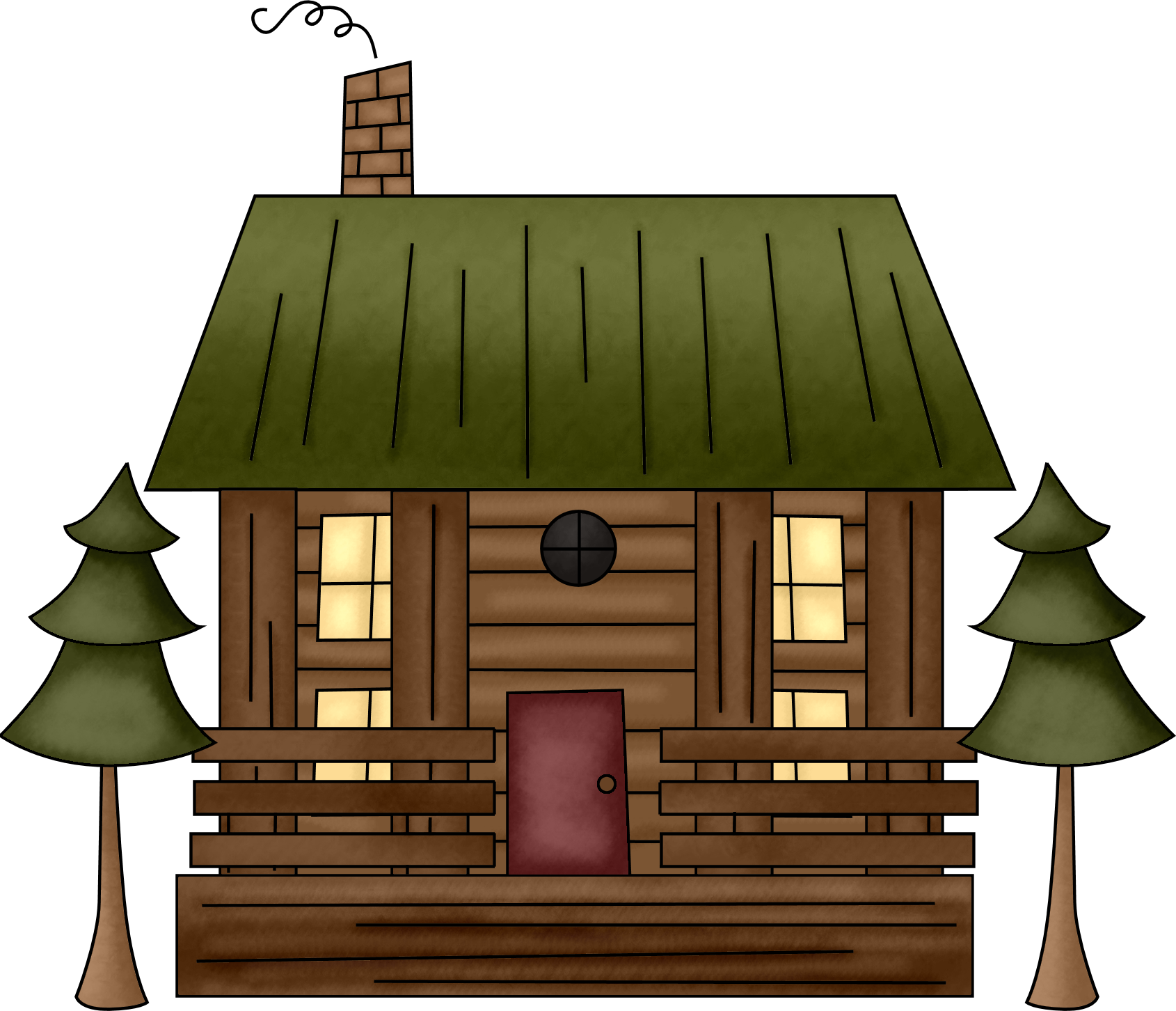 clip royalty free download Cabin Clipart mountain cabin