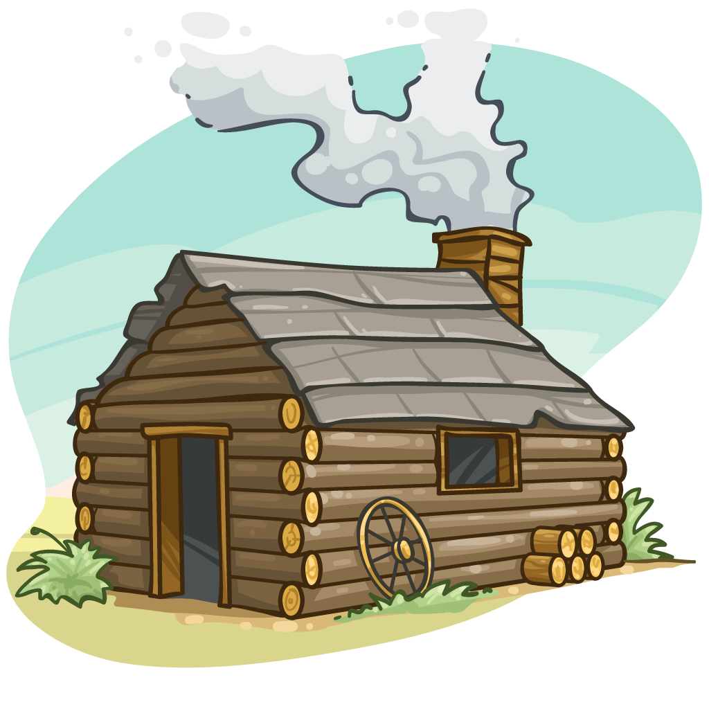 clip black and white download Cabin Clipart wooden cabin