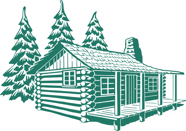 vector stock Cabin clipart river house. Log drawing at getdrawings.
