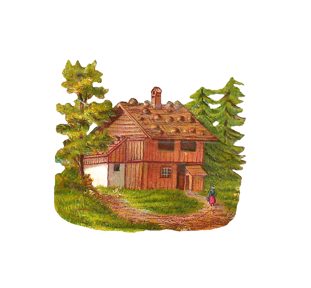clip royalty free Cabin clipart vintage. Antique images free house.