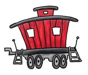 banner Train clip art free. Caboose clipart.