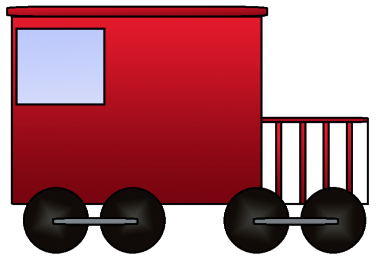png royalty free library Clip art train for. Caboose clipart little red caboose