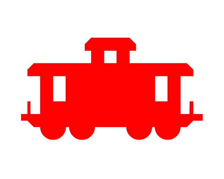 picture black and white stock Caboose clipart little red caboose. Clip art library .