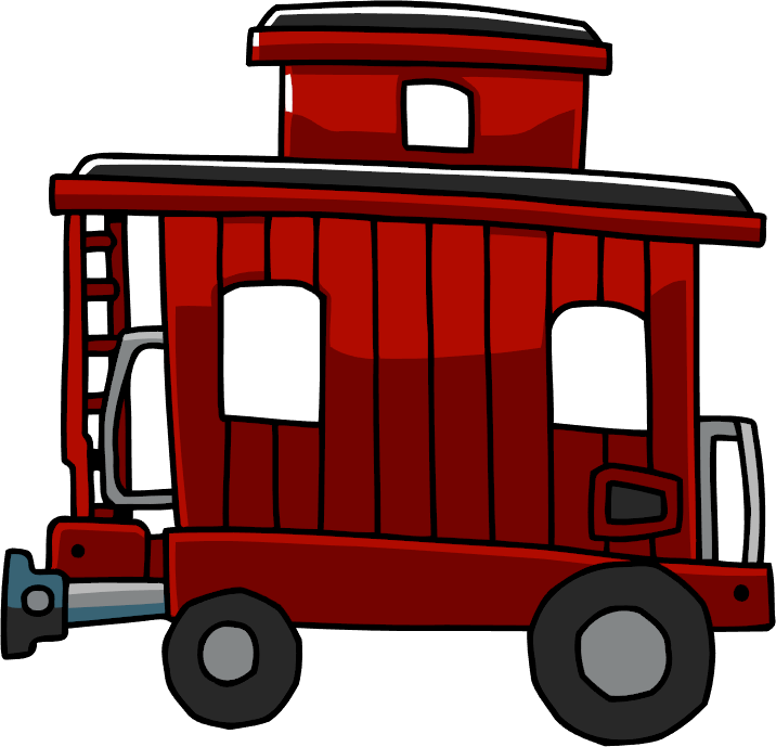 clip art freeuse library Caboose clipart little red caboose. Image png scribblenauts wiki.