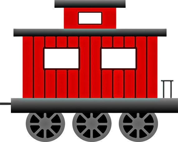 vector freeuse stock Image train wall art. Caboose clipart little red caboose.