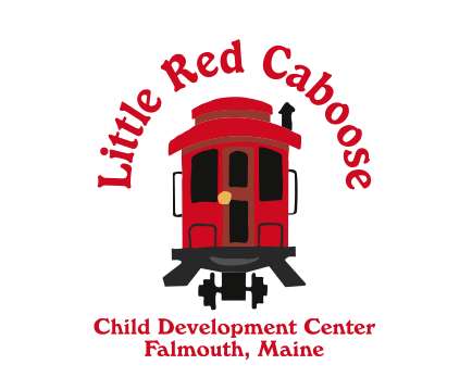 banner royalty free Child development center jobs. Caboose clipart little red caboose