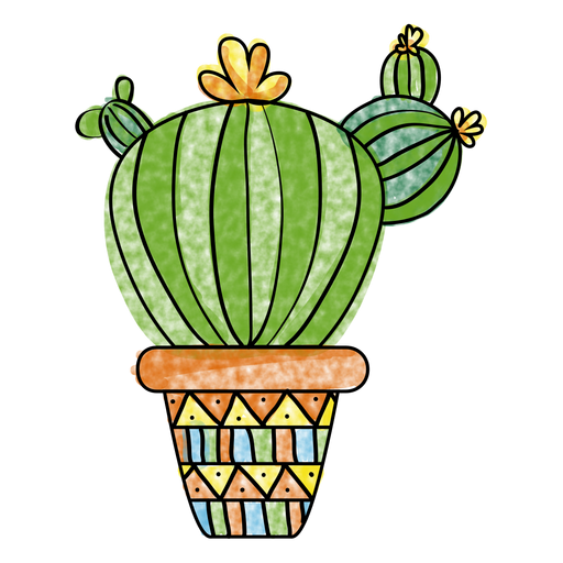 svg royalty free download Cactus clipart doodle. Hand drawn watercolor multiple.