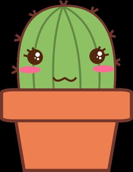 vector royalty free library Kawaii google zoeken miumiu. Cactus clipart doodle.