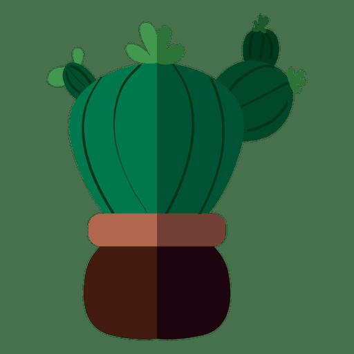 clip art freeuse Cactus clipart doodle. Fat flat pot drawing.