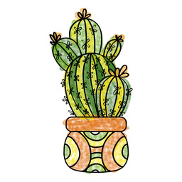 banner library Cactus clipart doodle. Hand drawn watercolor plant.