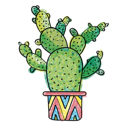 clipart royalty free stock Hand drawn watercolor multiple. Cactus clipart doodle.