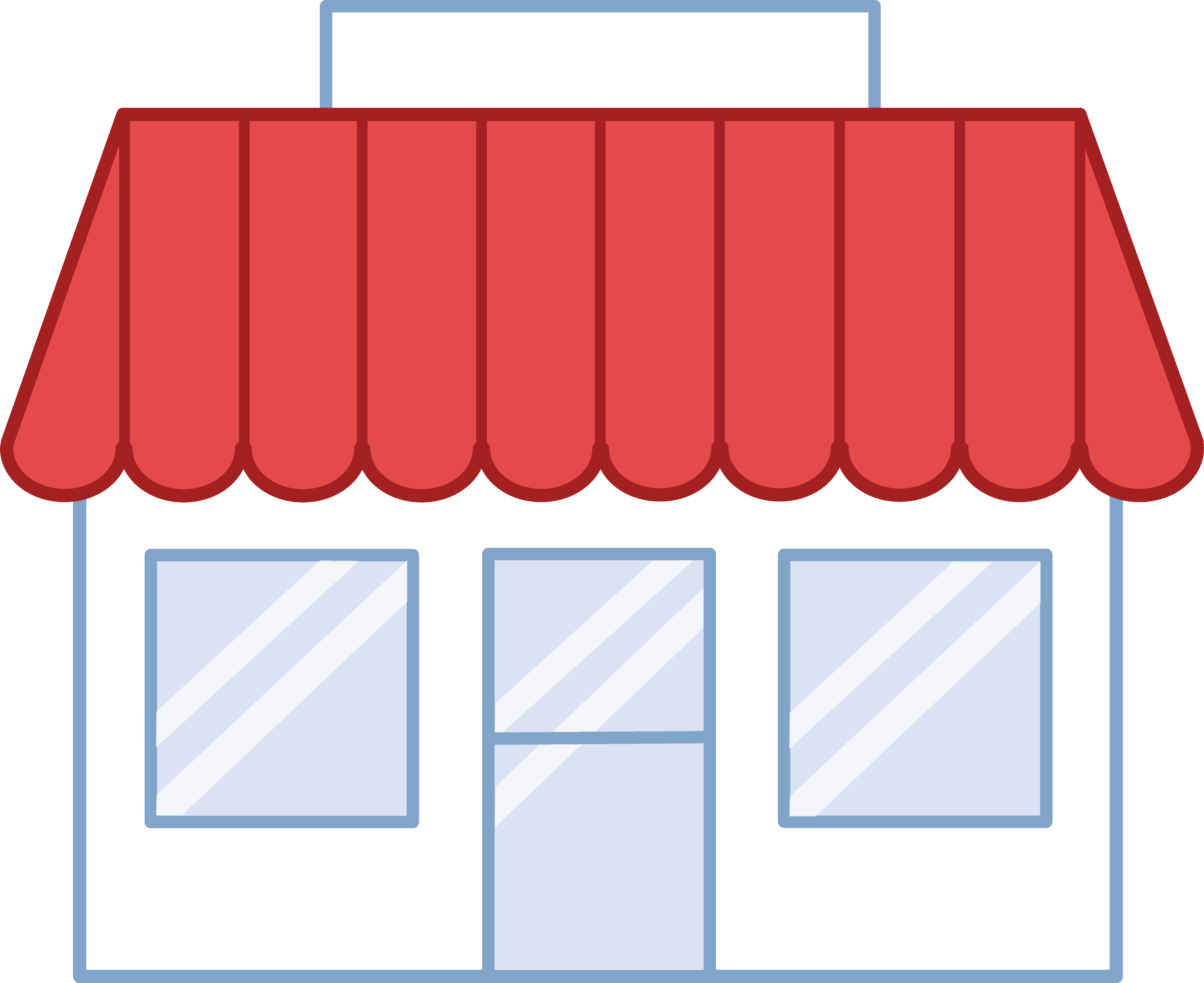 svg freeuse stock Building free . Supermarket clipart sari store.