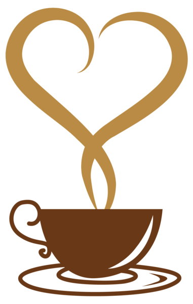 image library Deco cup with heart. Coffee clipart
