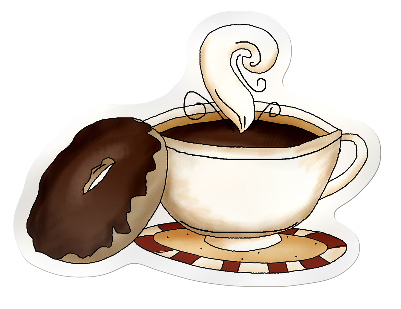 clip freeuse stock Cup head of coffe. Travel coffee mug clipart
