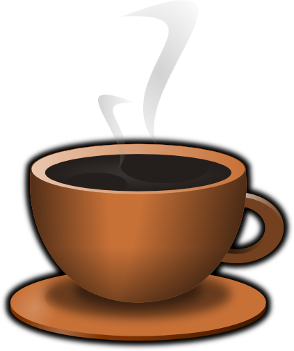 banner library download Cups clipart anthropomorphic. Coffee cup black mug.