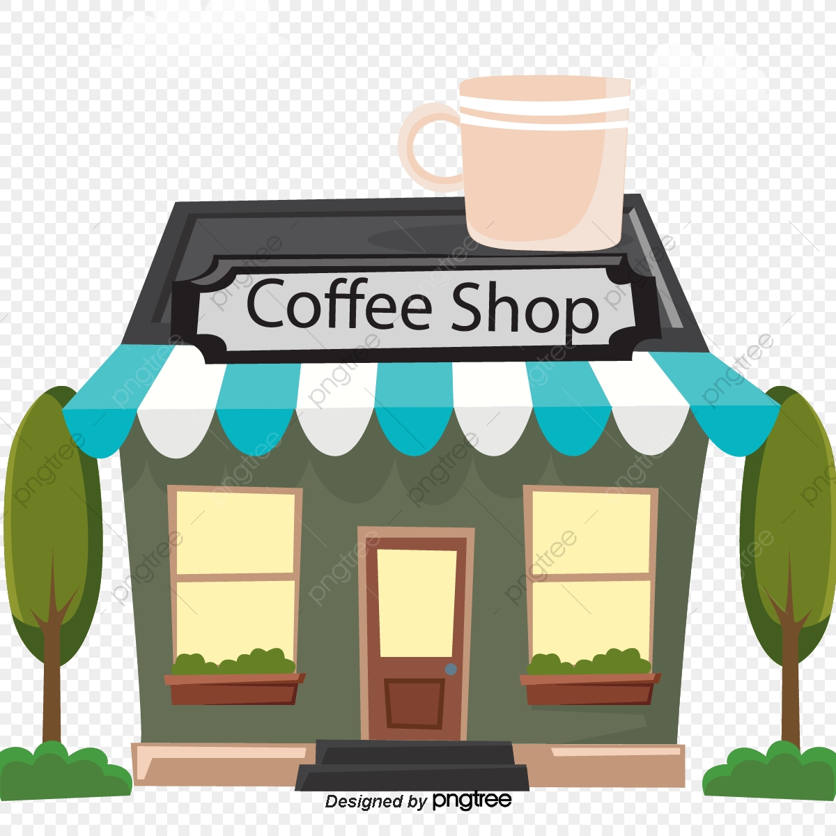 vector transparent download Clipart coffee shop. Cafe store transparent free