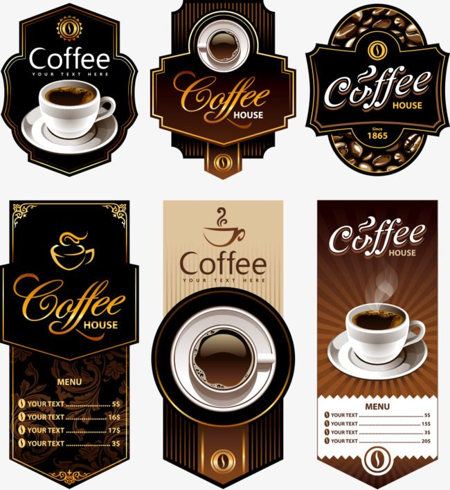 banner library Posters cup png . Vector coffee poster