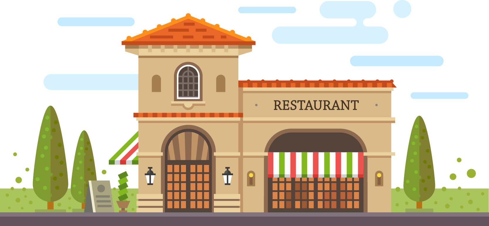 picture royalty free download Cafe Restaurant Building Pizza