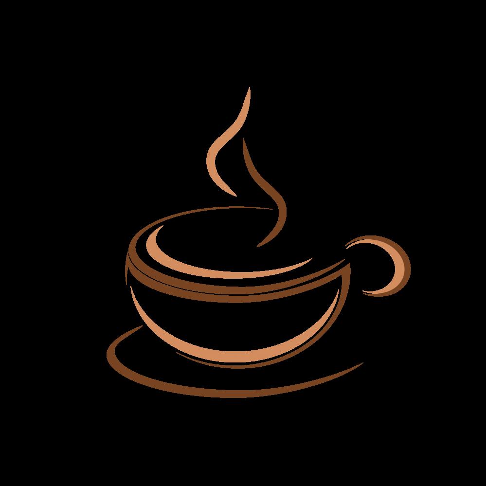 picture black and white Logo design idea free. Vector coffee creative